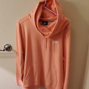 Nike cowl neck hoodie peach